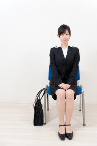 beautiful asian businesswoman sitting