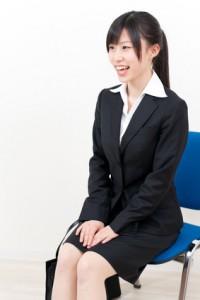 beautiful asian businesswoman interviewing