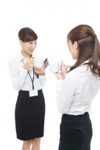 Beautiful asian businesswomen on white background