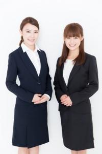portrait of asian businesswomen on white background