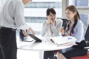 Women who are leaders from boss