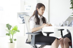 Business women working in the stylish office